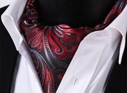 Backordered---Fancy Silk Ascot and Hanky