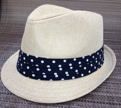 Fedora with Polka Dot Band