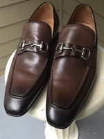 Brown Leather Italian Loafers 10.5