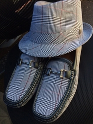 Glen Plaid Fedora w/Matching Shoes