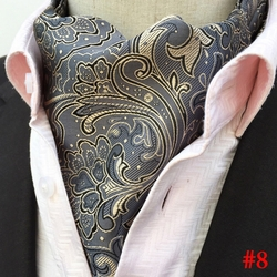 Grey Gold Paisley Ascot