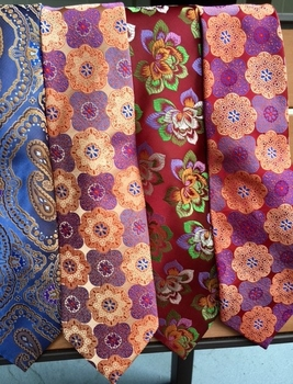 Group A Silk Neckties w/Mathcing Hanky