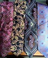 Group E Silk Neckties w/Matching Hanky