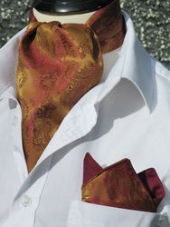 Imperial Paisley Ascot w/Hanky (Excaliber edition)