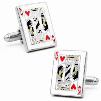 Backordered-King of Hearts Cufflinks