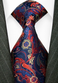 Lorenzo Red Blue Gold necktie Elite Edition