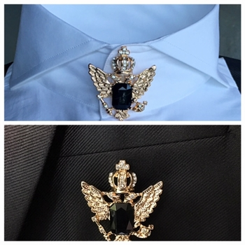 Majesty Crystal Stone Combination Collar & Chest Pin