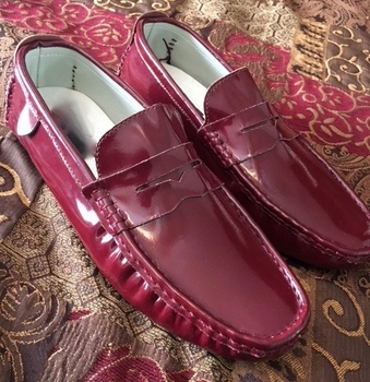 Maroon Driving Loafers size 11.5 - 12