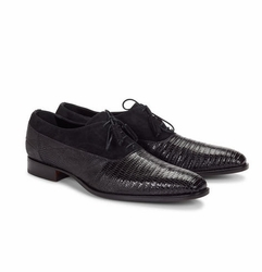 Mauri Dante Black Suede and Lizard Shoes
