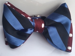 Michael Lamont Striped Polka Bowtie