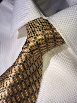 Micro Houndstooth Stripe Necktie w/Matching Hanky