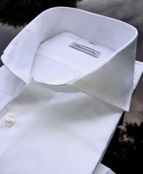 MorCouture 1 Button Spread Collar Dress Shirt