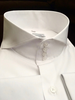 MorCouture 4 Button Cutaway Collar Shirt -Special order