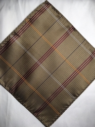 MorCouture Antique 8.5inch Silk Pocket Hanky