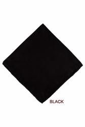MorCouture Black 17 x 17 Silk Pocket Hanky