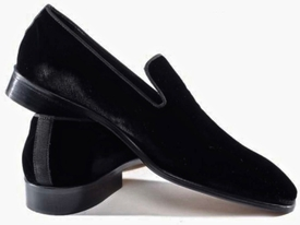MorCouture Black Velvet Loafers