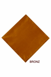 MorCouture Bronze 17 x 17 Silk Pocket Hanky
