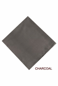 MorCouture Charcoal 17 x 17 Silk Pocket Hanky