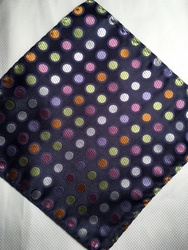 MorCouture Dots 8.5inch Silk Pocket Hanky