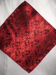 MorCouture Fire Floral 8.5inch Silk Pocket Hanky