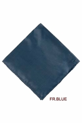 MorCouture French Blue 17 x 17 Silk Pocket Hanky