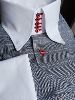 MorCouture Limited Edition Glen Plaid 5 Button w/hanky -Special Order