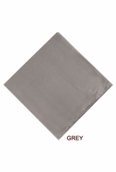 MorCouture Grey 17 x 17 Silk Pocket Hanky