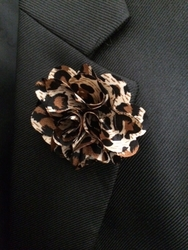 MorCouture Leopard Flower Lapel Pin
