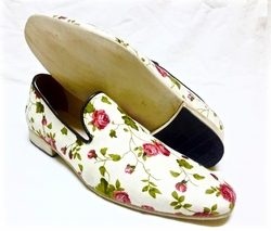 MorCouture Light Floral Slipon Shoes