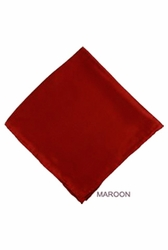 MorCouture Maroon 17 x 17 Silk Pocket Hanky