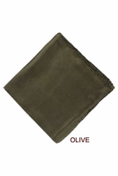 MorCouture Olive 17 x 17 Silk Pocket Hanky