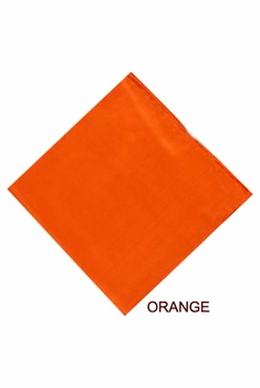 MorCouture Orange 17 x 17 Silk Pocket Hanky