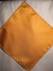 MorCouture Orange Yellow 8.5inch Silk Pocket Hanky