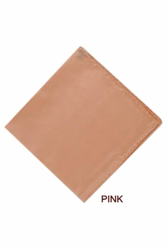 MorCouture Pink 17 x 17 Silk Pocket Hanky