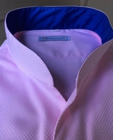MorCouture Pink Band Collar Shirt
