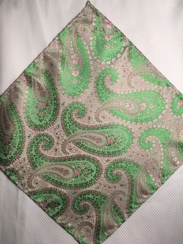MorCouture Pink Lime 8.5inch Silk Pocket Hanky