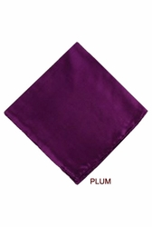 MorCouture Plum 17 x 17 Silk Pocket Hanky