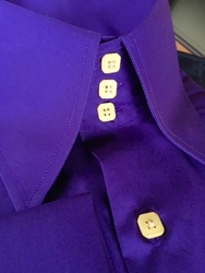 MorCouture Purple Gold High Collar Shirt
