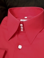 MorCouture Red High Collar Shirt size XL