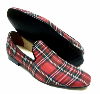 MorCouture Red Plaid &nbsp &nbsp Slipon Shoes