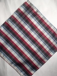 MorCouture Red White Blue 8.5inch Silk Pocket Hanky