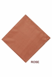 MorCouture Rose 17 x 17 Silk Pocket Hanky