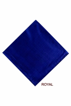MorCouture Royal Blue 17 x 17 Silk Pocket Hanky
