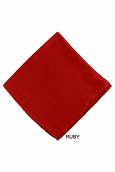 MorCouture Ruby 17 x 17 Silk Pocket Hanky