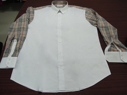 MorCouture Section Tan Check Shirt -special order