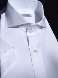 MorCouture Short Sleeve Spread Collar Shirt