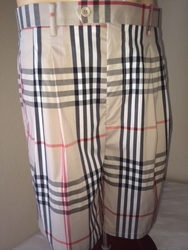MorCouture Tan Check Shorts