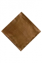 MorCouture Taupe 17 x 17 Silk Pocket Hanky