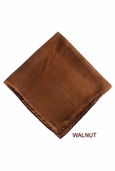 MorCouture Walnut 17 x 17 Silk Pocket Hanky