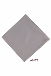 MorCouture White 17 x 17 Silk Pocket Hanky